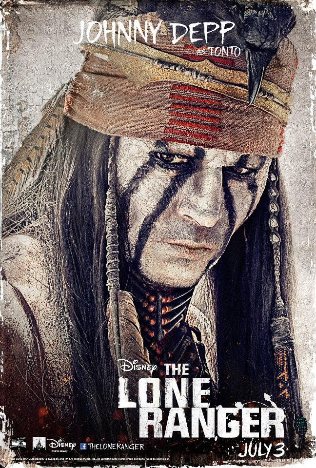 The Lone Ranger Posters And Images The Lone Ranger Stars Johnny Depp
