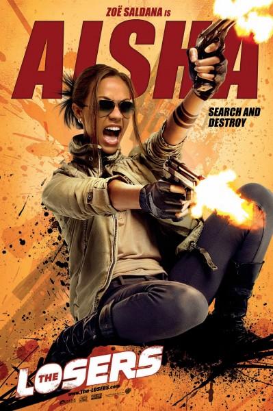 The Losers movie poster Aisha Zoë Saldana