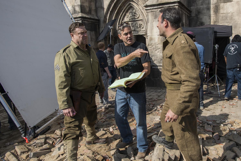 Monuments Men Interview George Clooney Bill Murray Cate Blanchett Matt Damon Talk War Drama