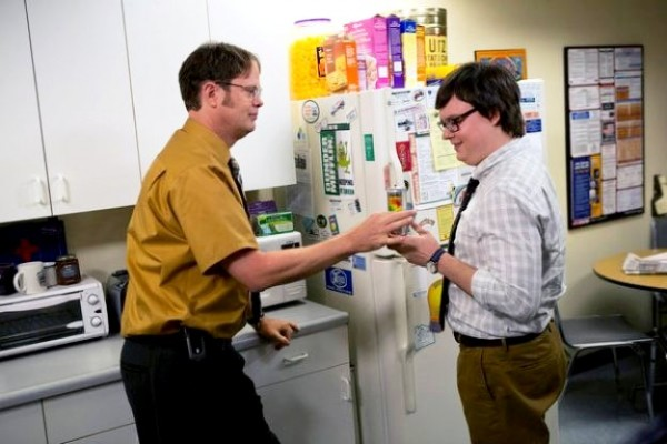 the office rainn wilson clark duke