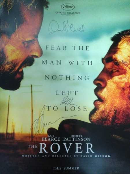 the rover poster signed guy pearce robert pattinson david michod