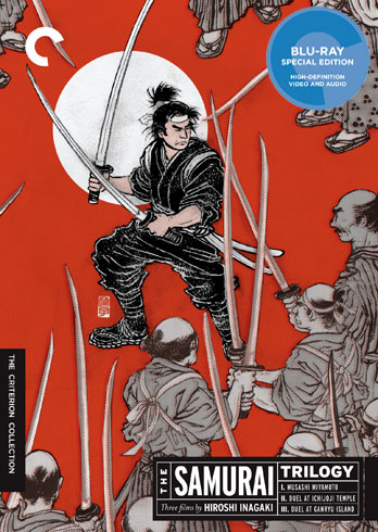 the samurai trilogy criterion blu ray cover