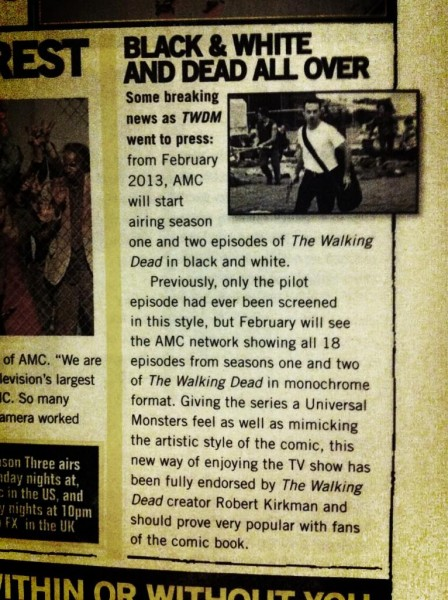 the walking dead black and white article