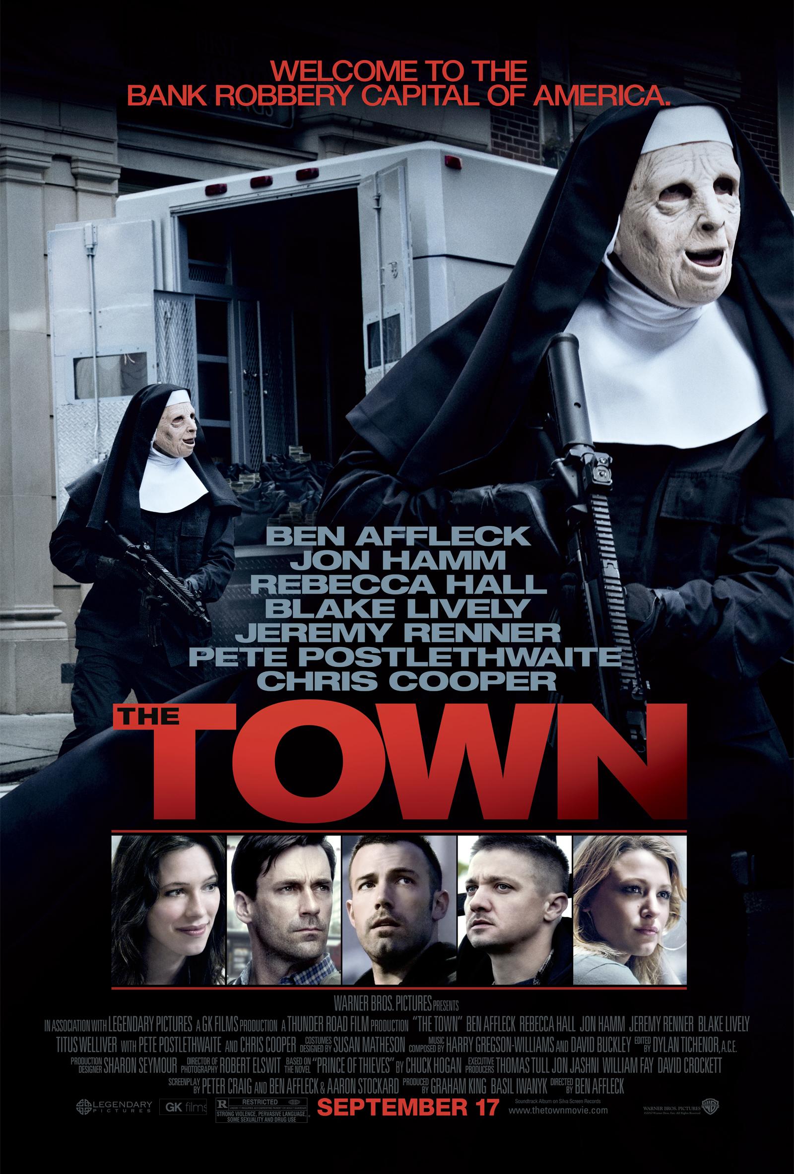 The Town Movie Poster Ben Affleck Jon Hamm Jeremy Renner