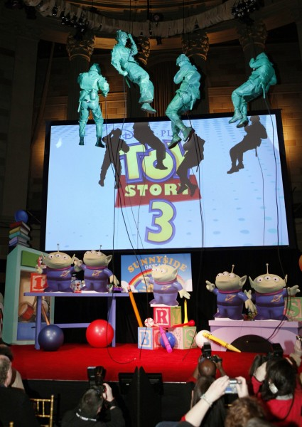Toy Story 3 Toy Fair set up
