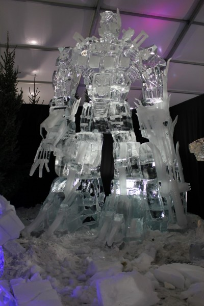 transformers_ice_sculpture
