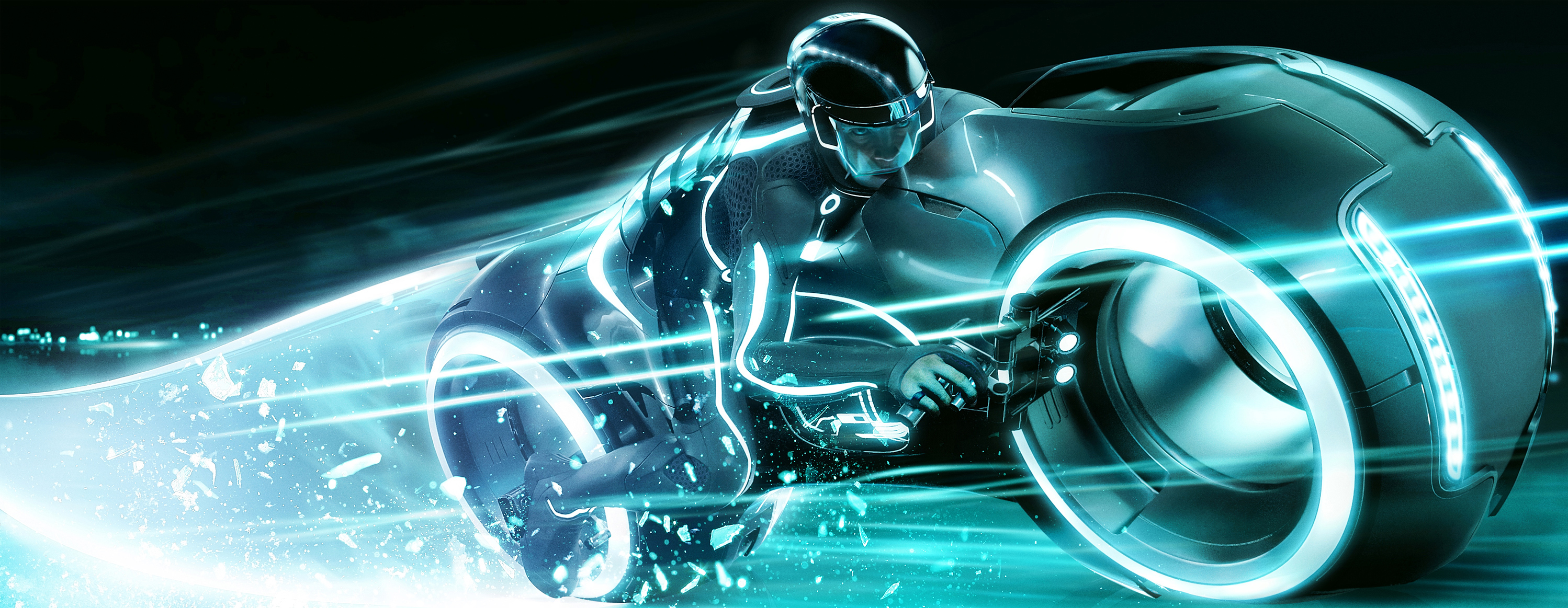 Wallpaper 3d Bike Tron Legacy Download: New TRON: LEGACY Movie Billboard/Banner Featuring Olivia