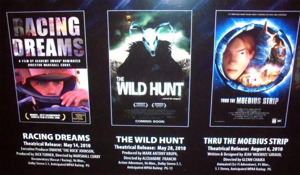 Twelve, Racing Dreams, The Wild Hunt, posters
